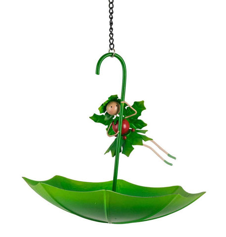 Holly The Christmas Fairy Umbrella Bird Feeder