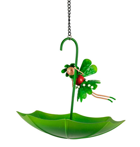 Mia The Mistletoe Christmas Fairy Umbrella Bird Feeder