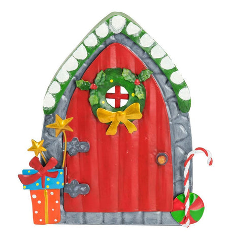Red Christmas Door - Candy Cane