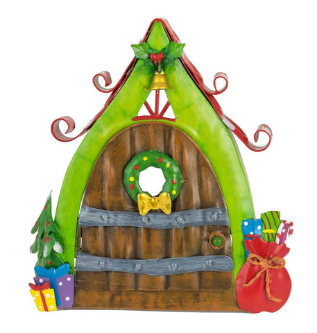 Wooden Christmas Door with Sack