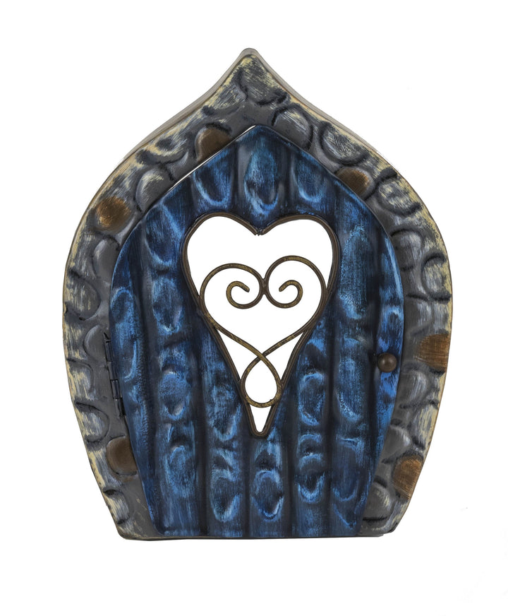 Fairy Door - Blue Swirly Heart