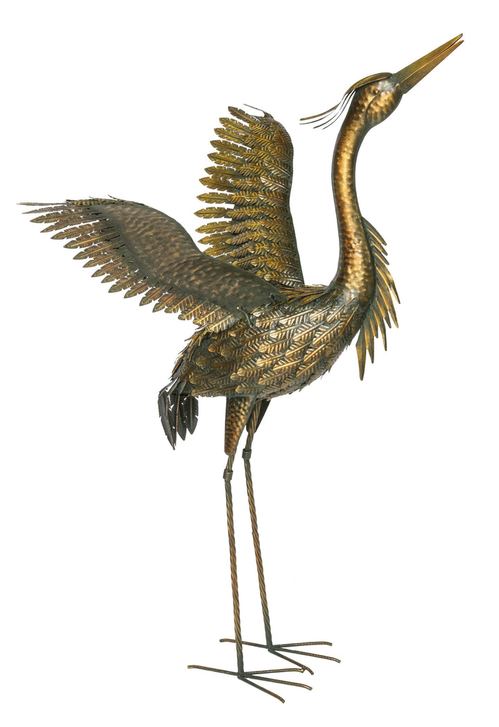 Gold Heron - Wings Outstretched