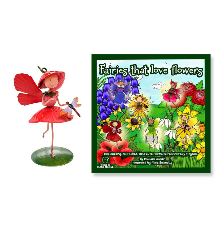 Fairies That Love Flowers Book & Poppy Character