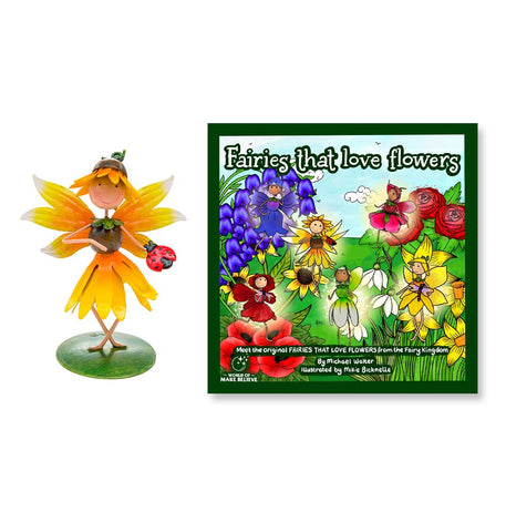Fairies That Love Flowers Book & Honey Sunflower Character