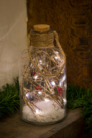 Magical Dec Berry Jar - White Light