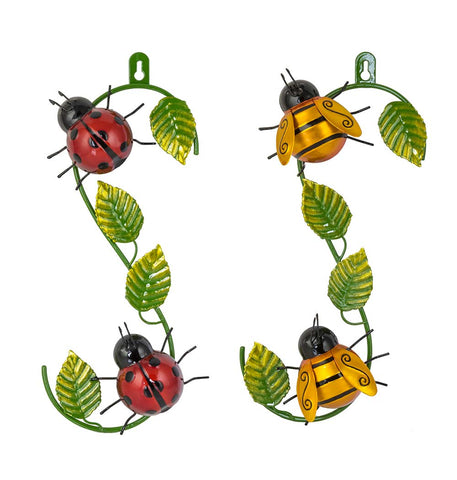 Ladybird & Bee Hook Wall Art Set