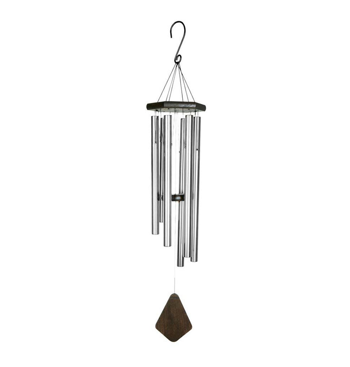 Natures Melody Wind Chime - Premiere Grande Silver 42 Inch