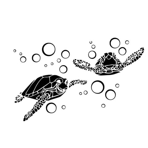 Sticker Tortue Bulle