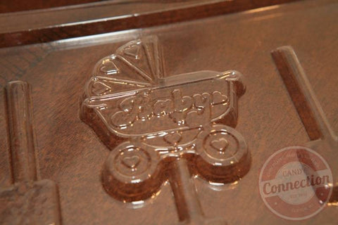 Baby Carriage Lollipop Mold