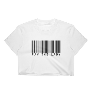 Pay The Lady - Barcode Crop Top - Yatir Clothing