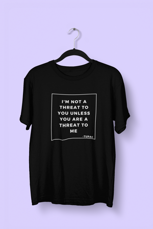 Tupac Quote Tee - Black