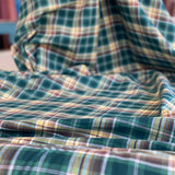 Green checked cotton