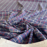 Checked flannel in blue