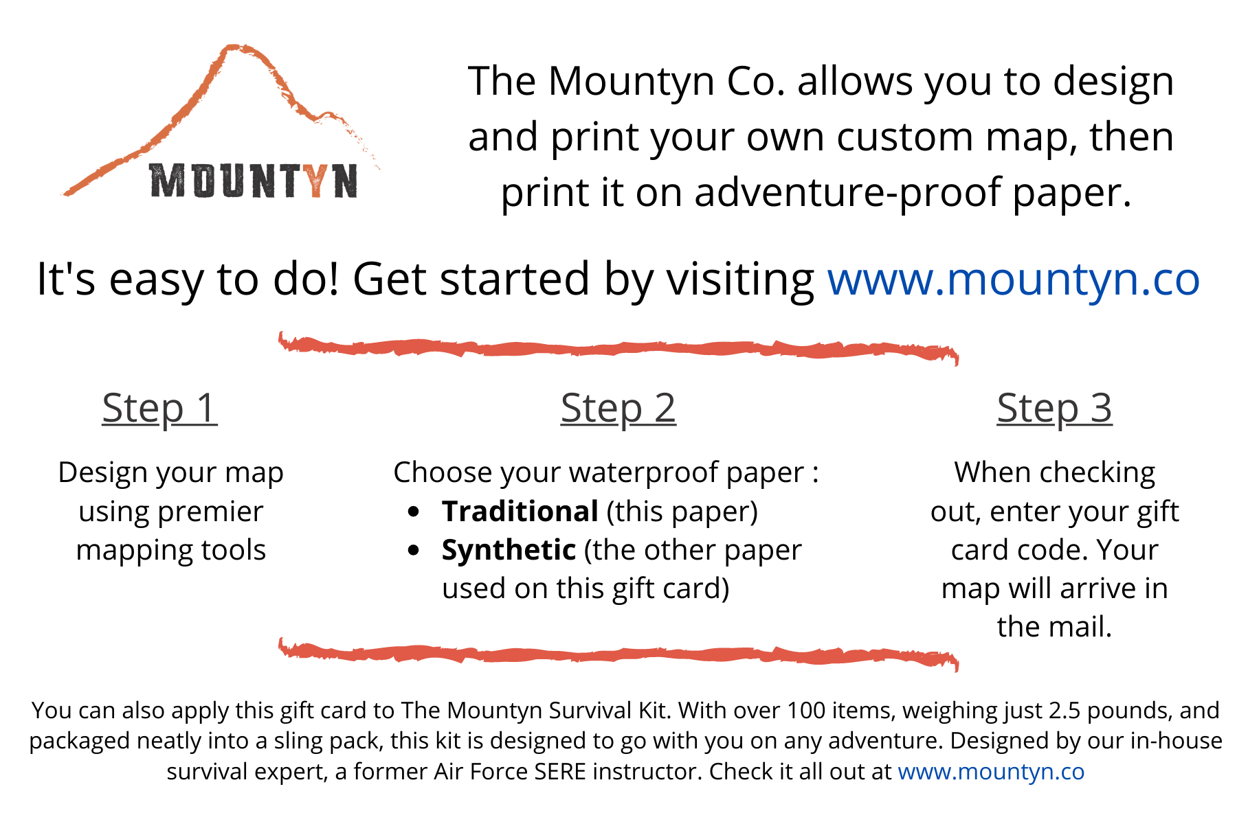 The Mountyn Gift Card - mailed to you!