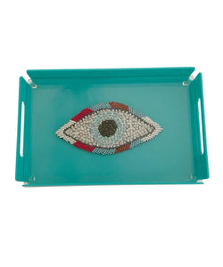 Hand-Embroidered graphic tray