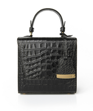 Load image into Gallery viewer, Black Charlotte Box Bag
