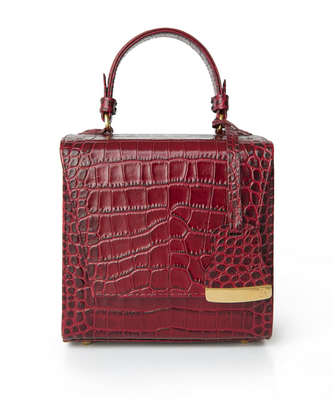 Blood Red Charlotte Box Bag