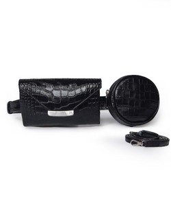 Black Celina Belt Bag