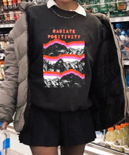 Load image into Gallery viewer, Radiate positivity sweater