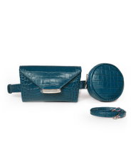 Load image into Gallery viewer, Teal Blue Celina Belt Bag