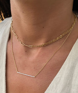 Asymmetrical Chain Necklace