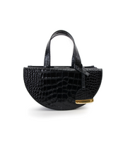 Load image into Gallery viewer, Black Half Moon Reina Bag