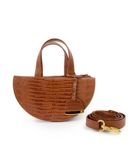 Load image into Gallery viewer, Tan Half Moon Reina Bag