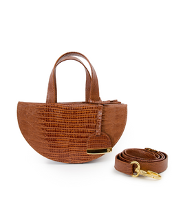 Tan Half Moon Reina Bag