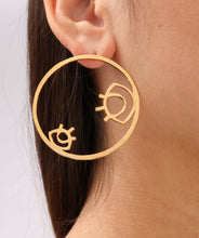 Load image into Gallery viewer, Eye Hoop Earrings