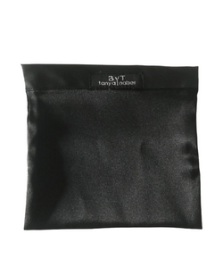 Black silk mask pouch