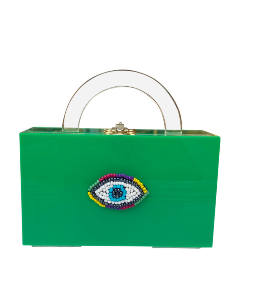 Mini Eye Embroidered Clutch