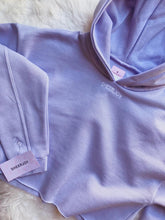 Load image into Gallery viewer, JOY Crop Hoodie Lavender