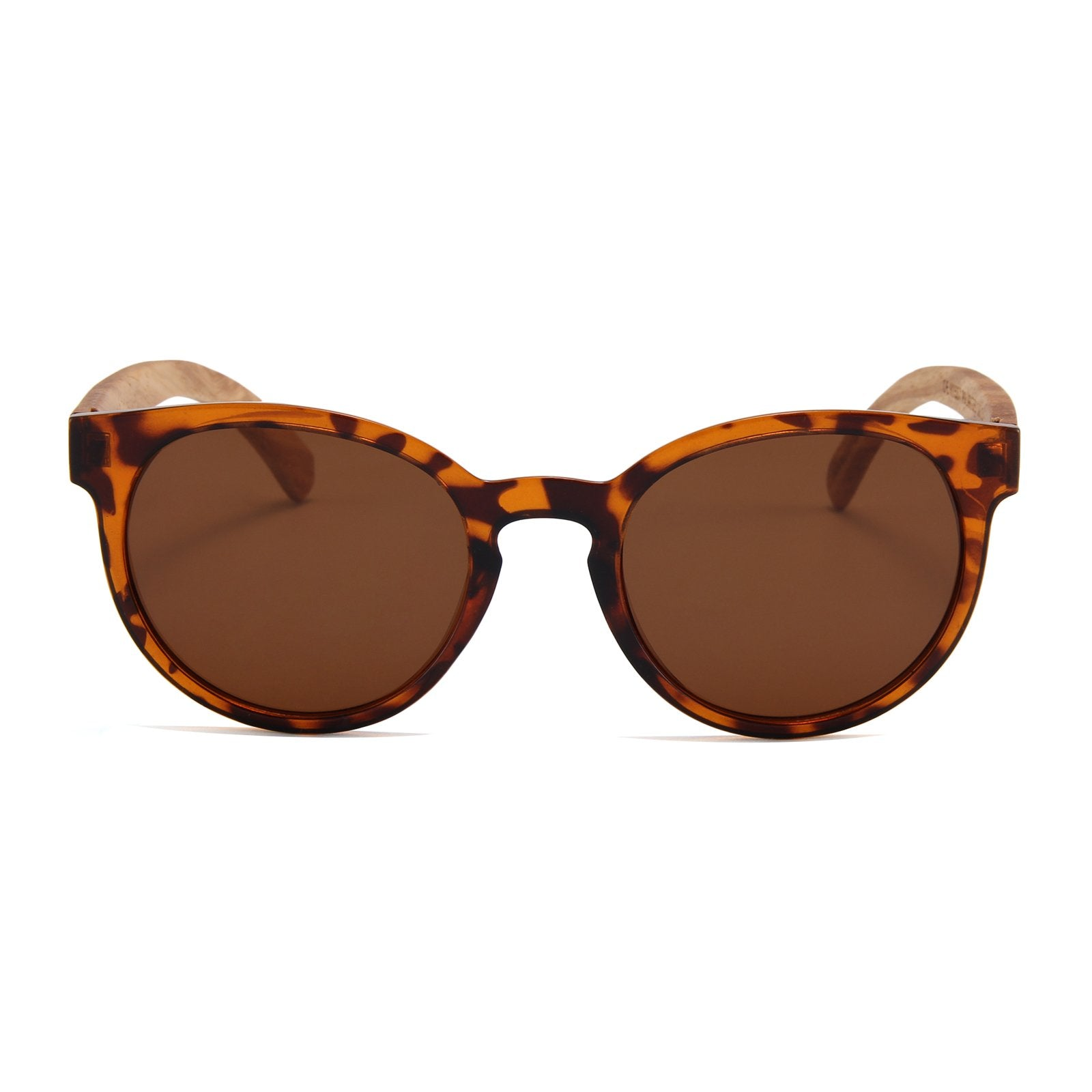 Zebra Wood Fighter Sunglasses (Tortoise Shell)