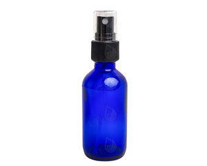 2 oz (60ml) Cobalt Blue Glass Bottles with Pump Sprayers (6-pack)