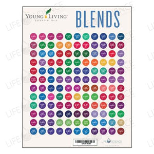 Young Living Oil Blends Bottles Stickers (132 Labels) - Discover Health & Lifestyle Asia