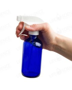 8 oz (240ml) Cobalt Blue Glass Bottle With Trigger Sprayer (Single)