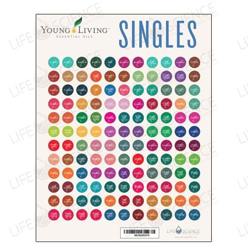 Young Living Single Oils Bottles Stickers (132 Labels) - Discover Health & Lifestyle Asia