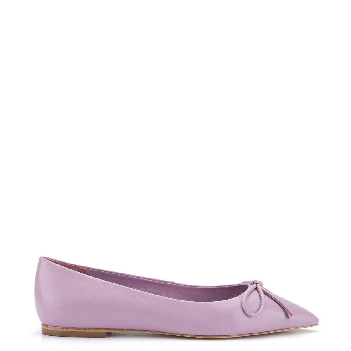 Lee Flat In Lavender Leather