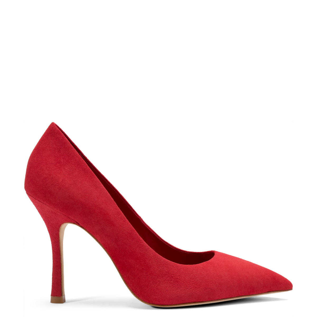 Candy Pump In Red Suede