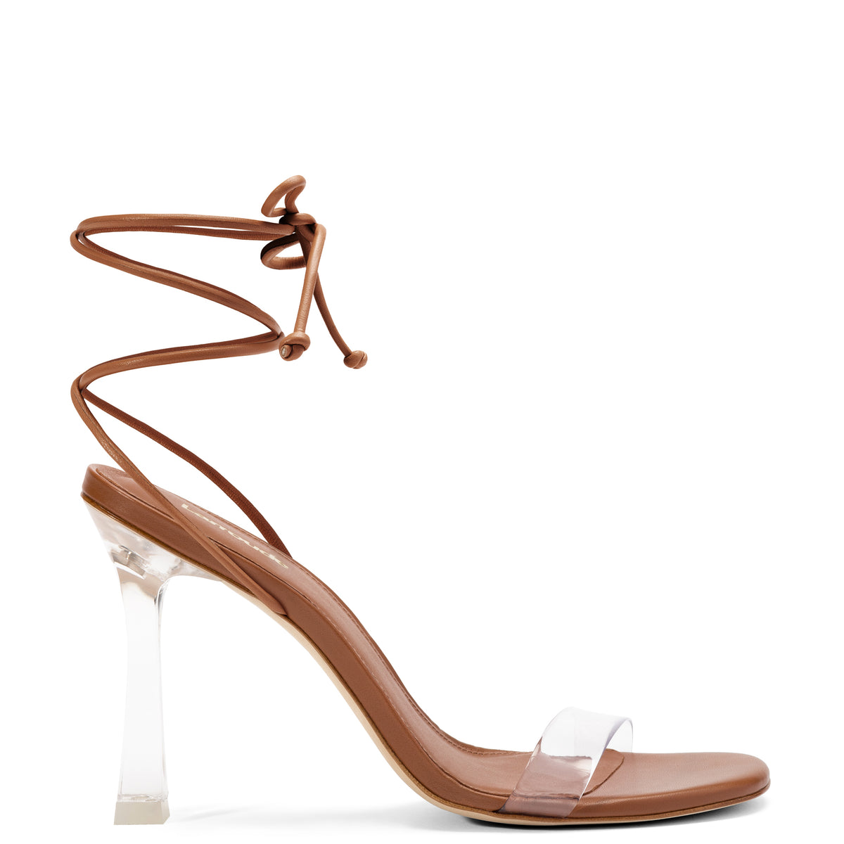 Gloria Sandal In Caramel Leather and Vinyl