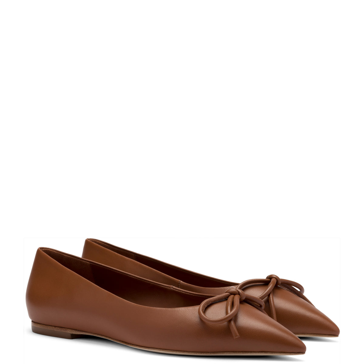 Lee Flat In Caramel Leather