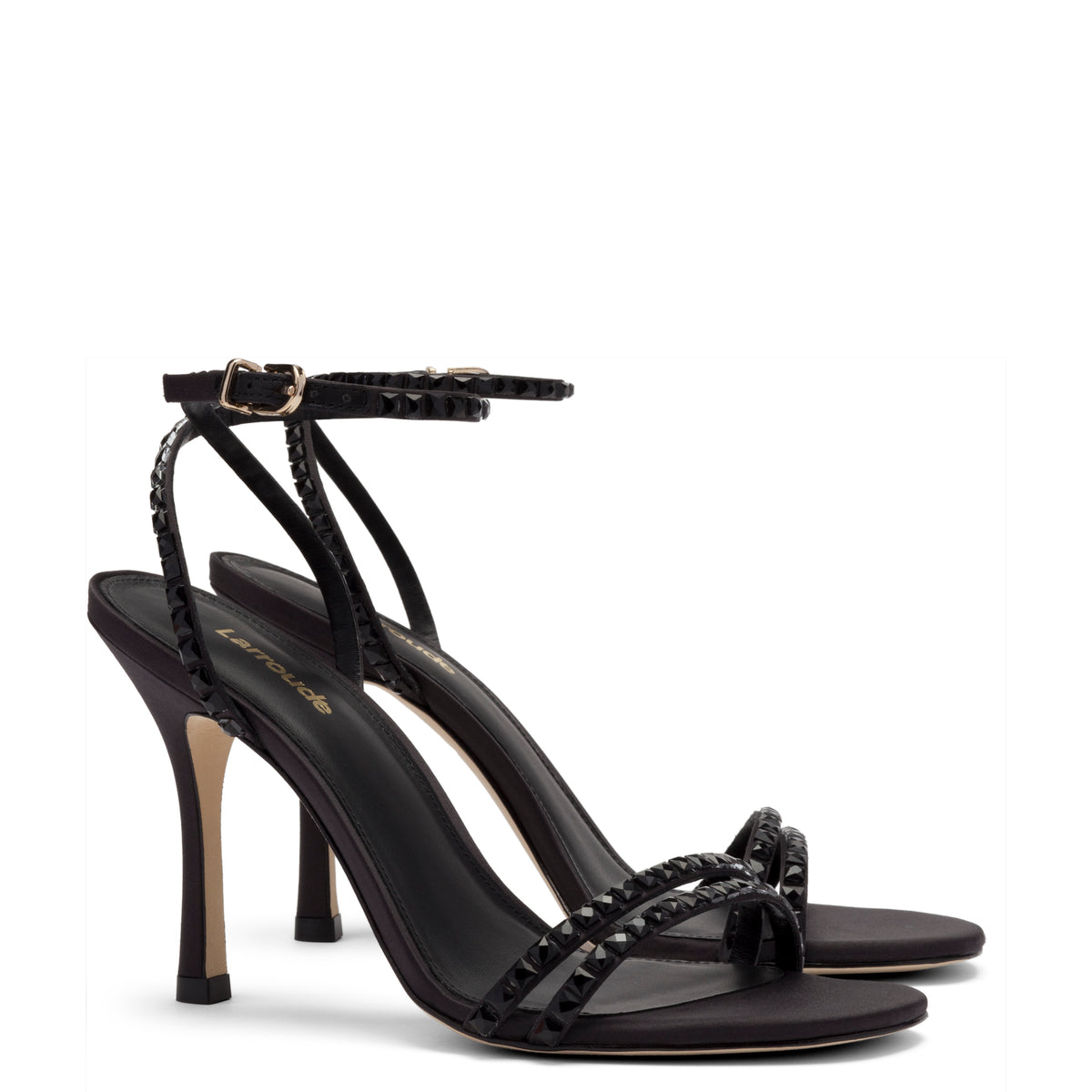 Lola Sandal In Black Satin