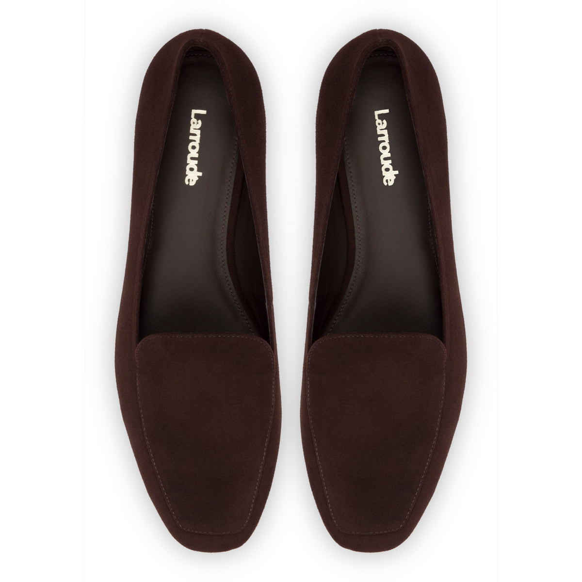 Diana Flat In Brown Suede