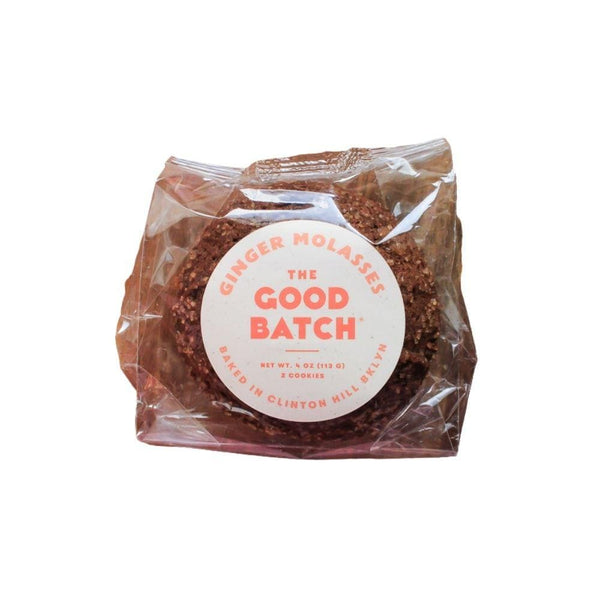 The Good Batch Ginger Molasses Cookies 4oz. bag