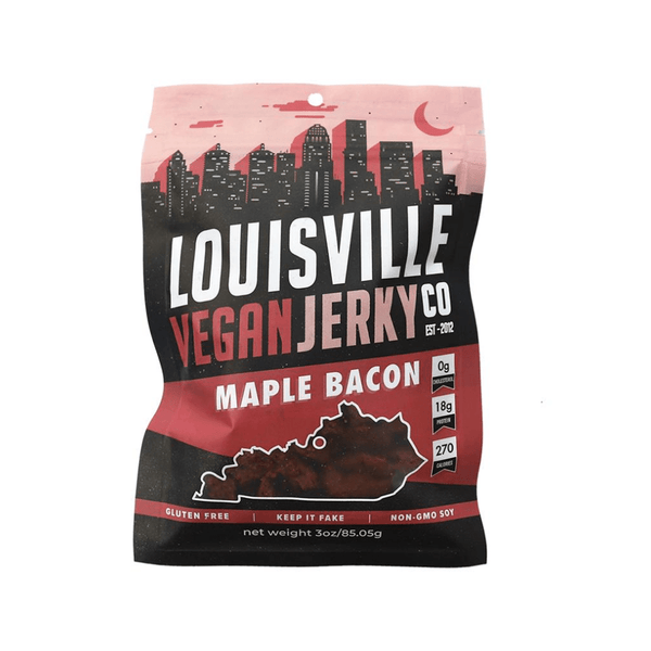 Louisville Vegan Jerky Co. Maple Bacon Jerky 3oz. bag