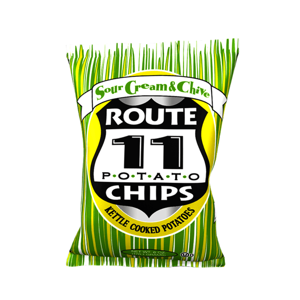 Route 11 Sour Cream and Chive Potato Chips 2oz. bag