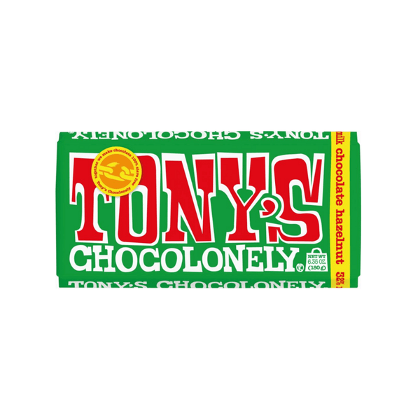 Tony's Chocolonely Milk Chocolate Hazelnut 6.35oz. bar