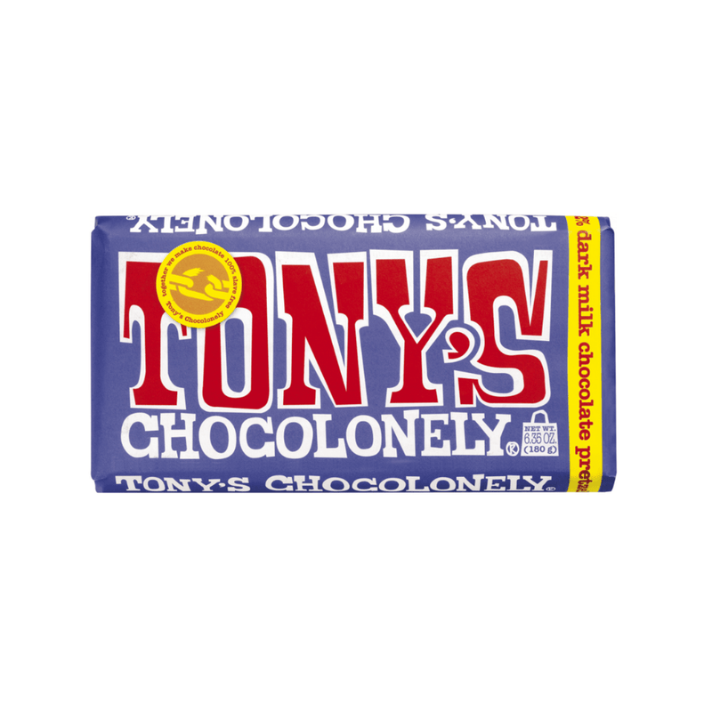 Tony's Chocolonely Dark Milk Chocolate Pretzel Toffee 6.35oz. bar