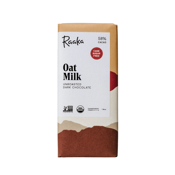 Raaka Oat Milk Unroasted Dark Chocolate 1.8oz. bar