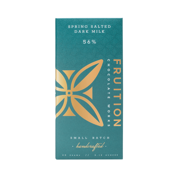 Fruition Chocolate Works Spring Salted Dark Milk Chocolate 2.12oz. bar